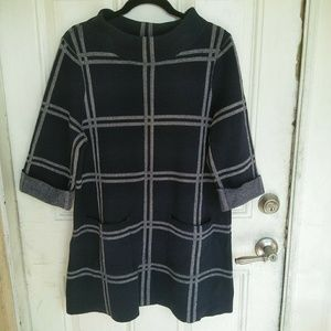 Anthropologie Moth Paned Sweater Tunic